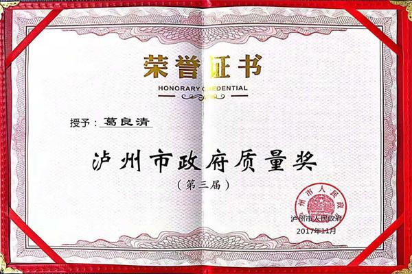 泸州市政府质量奖